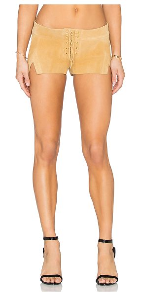 ARE YOU AM I Cuyler suede short in tan - Shell: 100% suedeLining: 100% silk. Professional leather...
