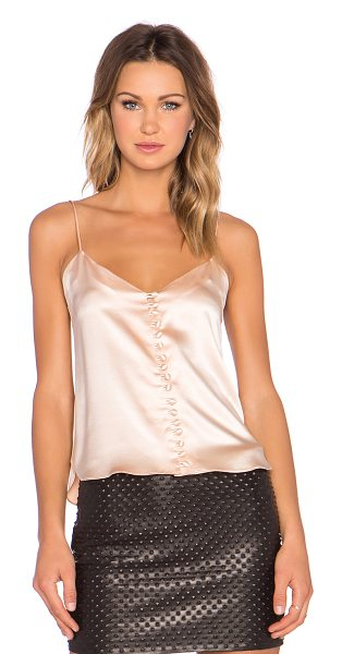 ARE YOU AM I Kaede cami in blush - 100% silk. Dry clean only. Front button closure....