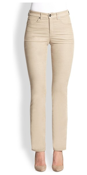 ARMANI COLLEZIONI Microfiber jeans in beige - Classic, five-pocket tailoring ensures the unmitigated...