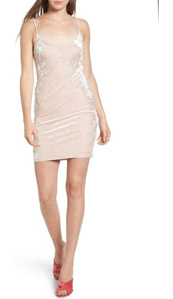 ARRIVE brooklyn body-con dress in blush - A simple stretch-velvet body-con dress serves as the...