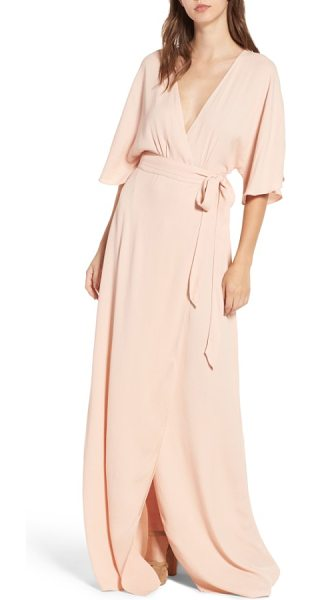 AFRM monroe wrap dress in cameo rose - Not your average wrap dress-with a plunging front and...