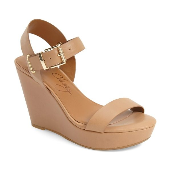 ARTURO CHIANG 'paulline' wedge sandal - Polished, minimalist hardware complements the clean,...