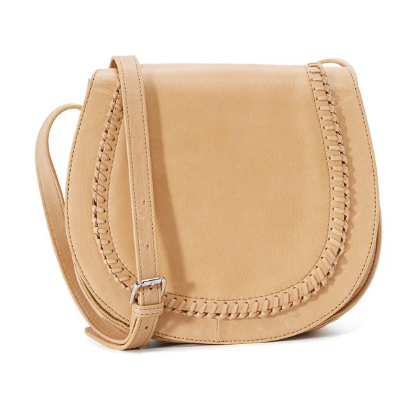 Ash Clover saddle bag in camel - A soft leather Ash saddle bag with whipstitch accents....