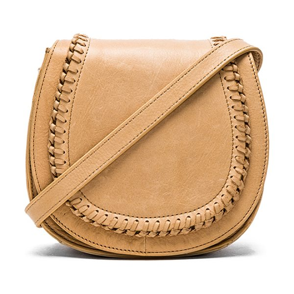 Ash Clover small crossbody in tan - Leather exterior with poly fabric lining. Adjustable...