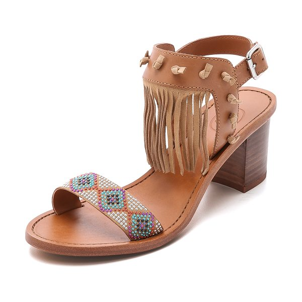 Ash Patchouli fringe sandals in chamois/new nude