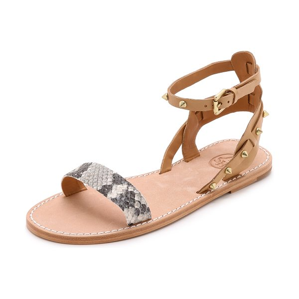 Ash Podium sandals in roccia/nude - Studded straps and a snake embossed vamp bring an edgy...