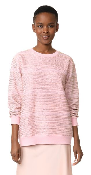 ASHISH beaded sweatshirt in pink/gold - This crew-neck ASHISH sweatshirt is covered with narrow...