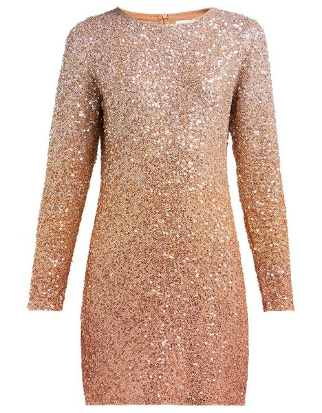 ASHISH long-sleeved sequinned mini dress in beige