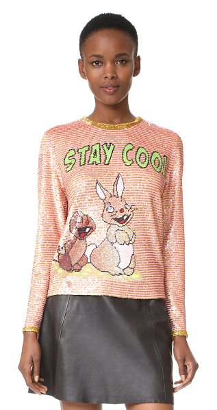 ASHISH stay cool top - A statement-making ASHISH top, covered with sequins and...