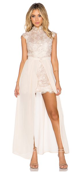ASILIO Dark muse dress in blush - Shell: 100% polyLining: 98% poly 2% spandex. Dry clean...