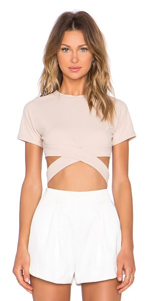 ASILIO Hotel california crop top in beige - 95% poly 5% spandex. Dry clean recommended. Crossover...