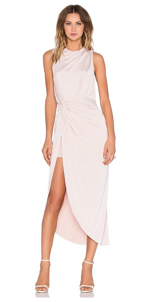 ASILIO Landslide dress in blush - 94% poly 6% spandex. Fully lined. Hidden back zipper...