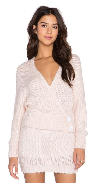 ASILIO The pink slipper sweater - 70% acrylic 20% cotton. Wrap front with button closure....