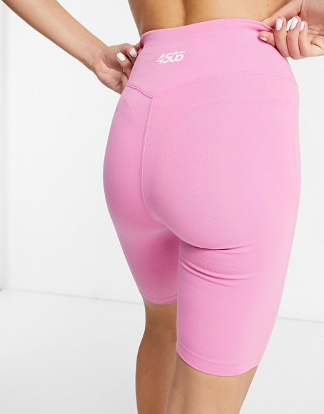 Asos 4505 icon booty legging short in cotton touch-pink in pink