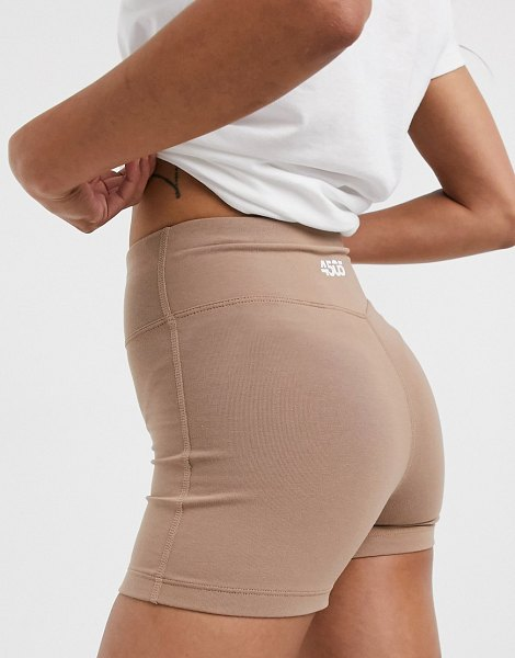 Asos 4505 icon training booty short in cotton touch-cream in cream