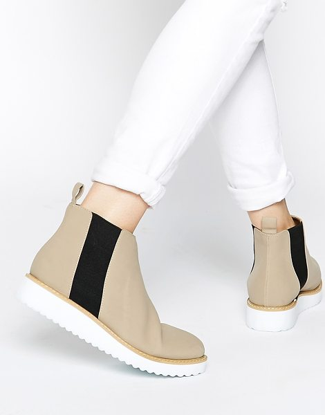 ASOS Afiata flatform chelsea boots - Boots by ASOS Collection, Suede-look upper, High cut...