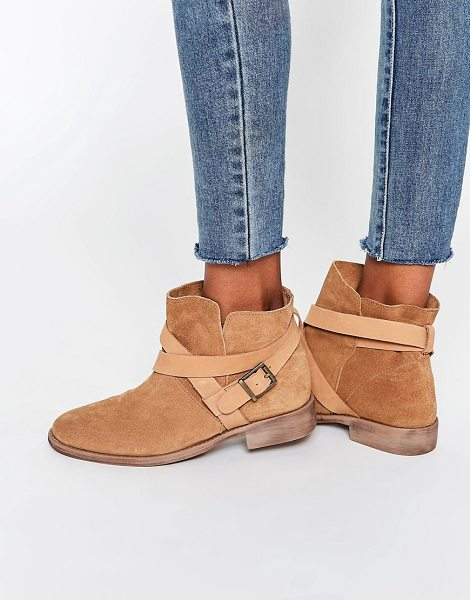 ASOS ALEX Suede Slouch Ankle Boots - Boots by ASOS Collection, Suede upper, Pin-buckle strap...