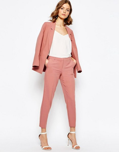 """ASOS Ankle Grazer Cigarette Pants in Crepe - """"""""Pants by ASOS Collection, Unlined crepe, Mid-rise..."""