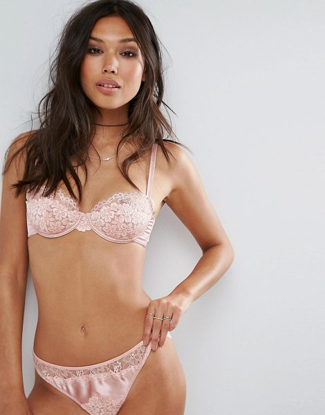 """Asos arianna tonal lace underwire bra in vintagepink - """"""""Bra by ASOS Collection, Stretch satin and lace,..."""