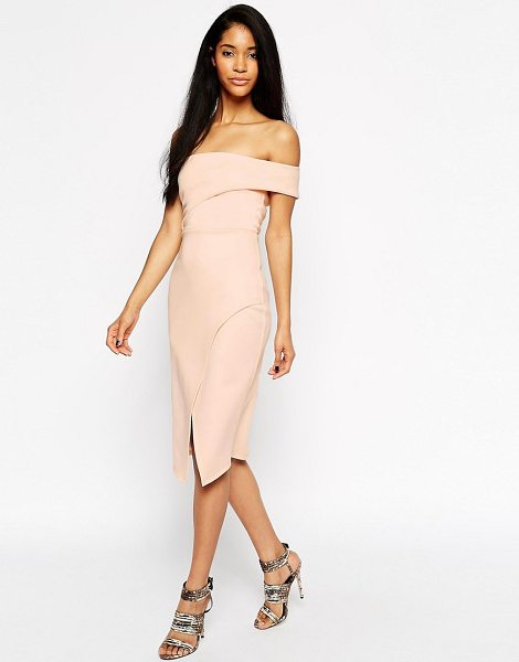 ASOS Asymmetric One Shoulder Bandeau Dress - Dress by ASOS Collection, Lightweight scuba-style...