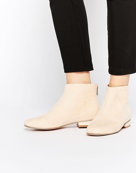 Asos ATLANTIC Ankle Boots in beige - Boots by ASOS Collection, Suede-look upper, Zip through...