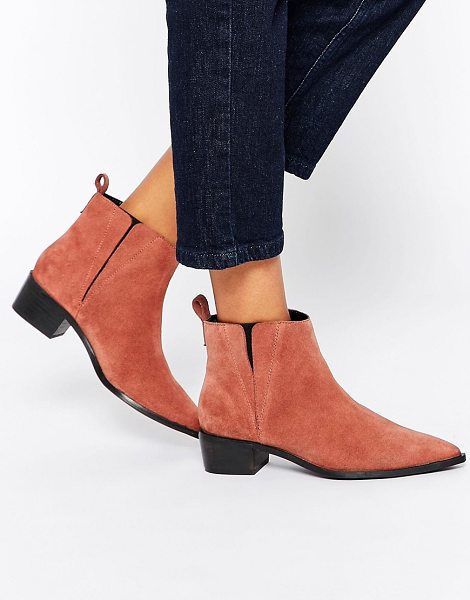 Asos AVA Suede Pointed Chelsea Boots in tan - Boots by ASOS Collection, Suede upper, Back tab,...
