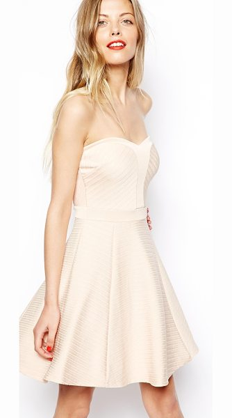 Asos Bandage skater dress in nude - Machine Wash According To Instructions On Care Label....