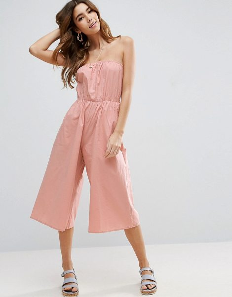 """Asos Bandeau Jumpsuit in Cotton in pink - """"""""Jumpsuit by ASOS Collection, Lightweight cotton,..."""