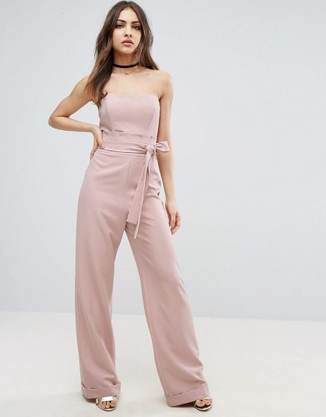 """Asos Bandeau Jumpsuit with Paperbag Waist Detail in nude - """"""""Jumpsuit by ASOS Collection, Woven fabric, Sweetheart..."""