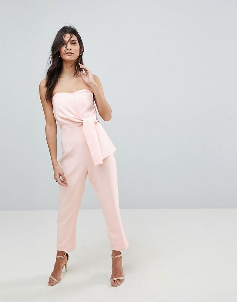 ASOS DESIGN asos bandeau jumpsuit with tie detail in duskypink - Jumpsuit by ASOS Collection, Dress to distract,...