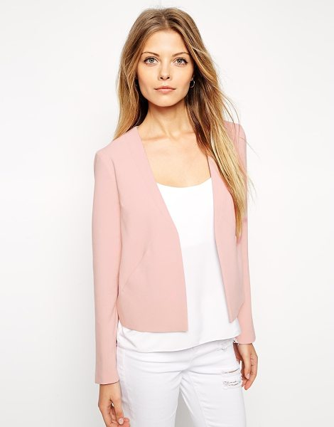 Asos Blazer with clean lapel in dusty pink - Blazer by ASOS Collection Soft touch woven fabric Open...