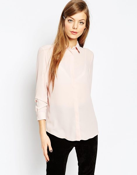 Asos Blouse in pink - Blouse by ASOS Collection, Lightweight chiffon, Point...