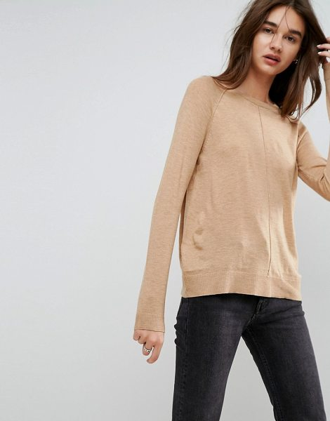"Asos Boyfriend Sweater With Crew Neck in beige - """"Sweater by ASOS Collection, Lightweight fine knit,..."