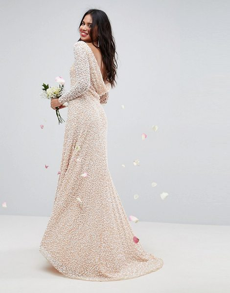 ASOS Edition asos bridal all over embellished long sleeve maxi dress in nude - Dress by ASOS Collection, Heavyweight embellished dress,...