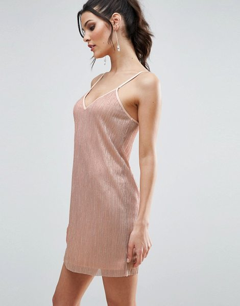 """ASOS Cami Dress in Plisse - """"""""Dress by ASOS Collection, Lined metallic plisse,..."""