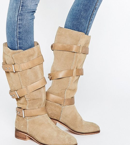 ASOS CANTERBURY Suede Knee High Boots - Boots by ASOS Collection, Suede upper, Wraparound...