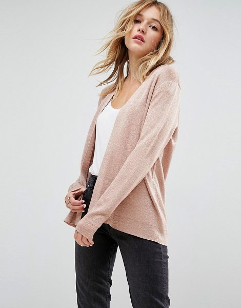 Asos Cardigan in Metallic in pink