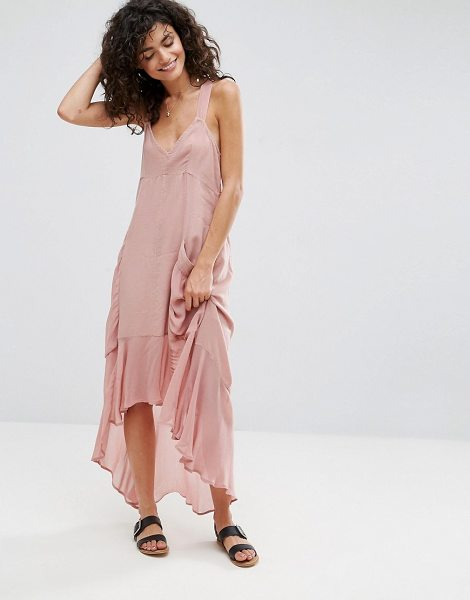 "Asos Casual Parachute Maxi Dress in pink - """"Maxi dress by ASOS Collection, Lightweight woven..."