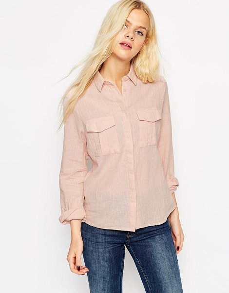ASOS Soft casual boyfriend shirt - Shirt by ASOS Collection Woven linen-mix fabric Point...