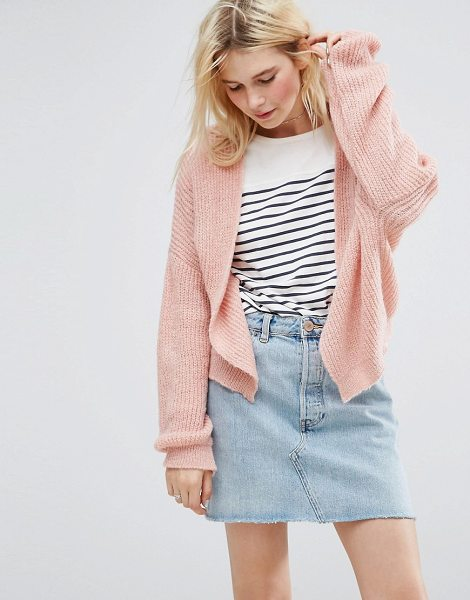 "Asos Chunky Cardigan in pink - """"Cardigan by ASOS Collection, Chunky ribbed knit,..."
