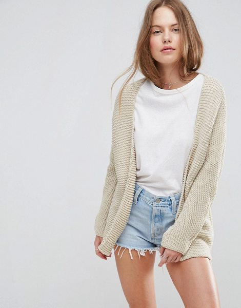 "Asos Chunky Cocoon Cardigan in beige - """"Cardigan by ASOS Collection, Chunky knit, Long..."