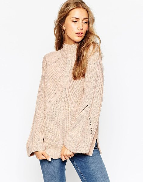 ASOS Chunky Sweater With High Neck And Moving Rib - Sweater by ASOS Collection, Chunky ribbed knit, Turtle...