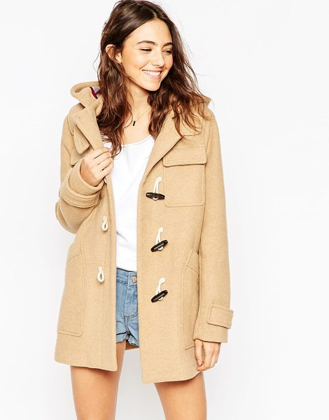 Asos Classic Duffle Coat in stone - Coat by ASOS Collection, Mid-weight wool-mix fabric,...