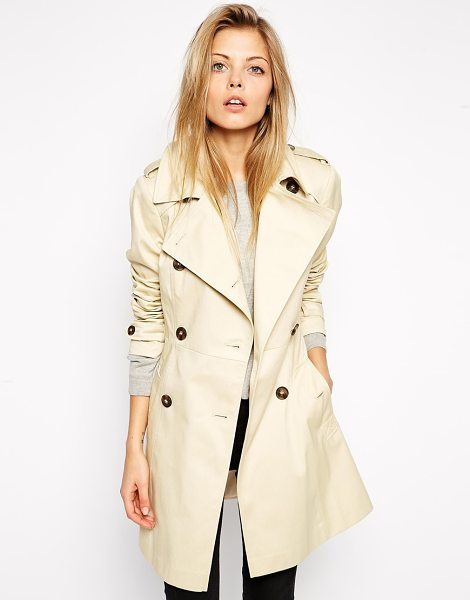ASOS Classic Trench Coat - Trench by ASOS Collection, Mid-weight woven fabric,...