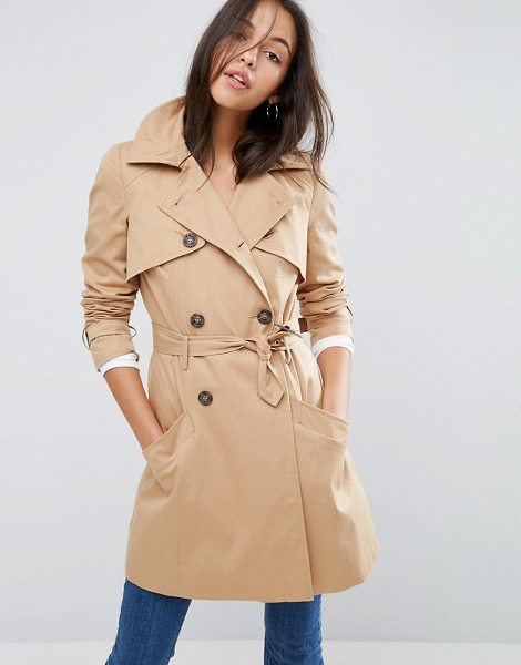 ASOS Classic Trench Coat - Coat by ASOS Collection, Heavyweight textured woven...