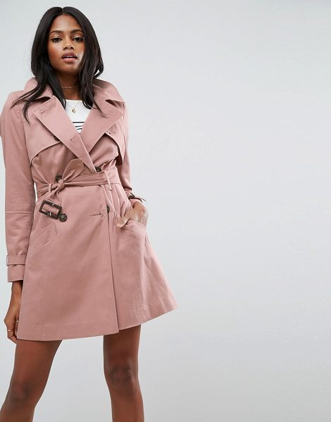 "Asos Classic Trench Coat in pink - """"Coat by ASOS Collection, Woven fabric, Point collar,..."