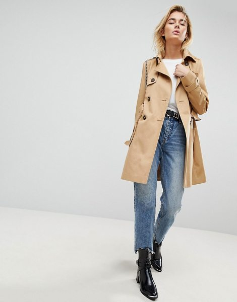 ASOS DESIGN classic trench coat in stone - Coat by ASOS DESIGN, So good, you won't want to take it...