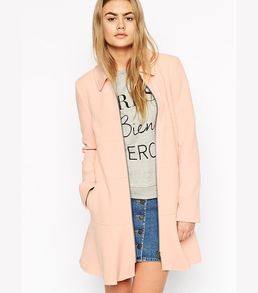 Asos Coat with dropped pephem in pink