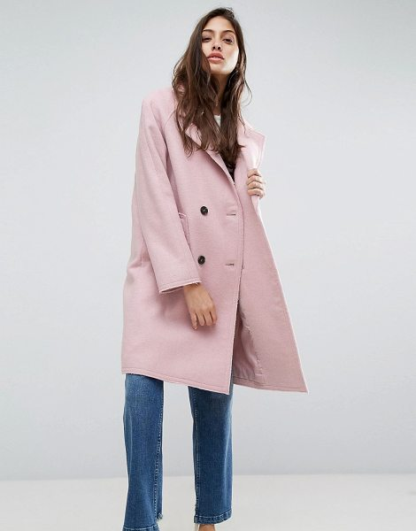 "ASOS Coat with Raw Edges - """"Coat by ASOS Collection, Wool-mix fabric, Notch lapel,..."