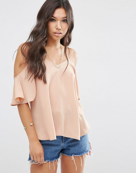Asos Cold Shoulder Cami Top in beige - Top by ASOS Collection, Lightweight woven fabric,...